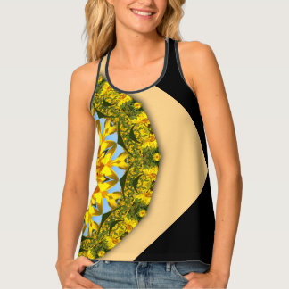 Sonnenblumen, Natur-Mandala 008 06,1 (Sonnenblume) Tanktop