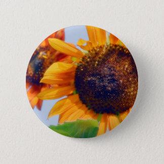 Sonnenblumen Runder Button 5,1 Cm