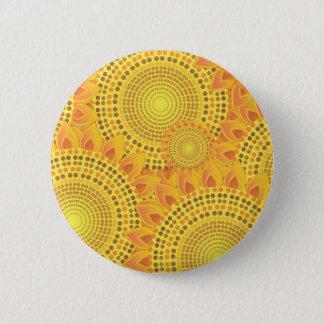Sonnenblumen Runder Button 5,7 Cm