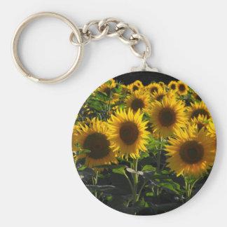 Sonnenblumen Standard Runder Schlüsselanhänger