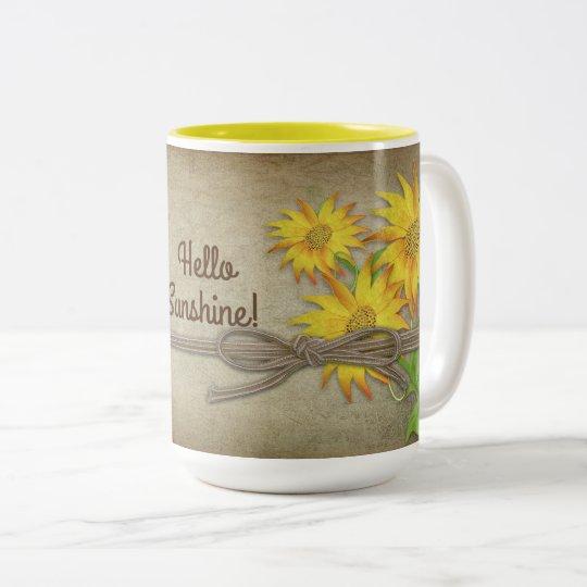 Sonnenblumen - Tasse - personifizieren