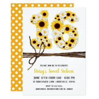 Sonnenblumen u. Gänseblümchen SECHZEHN 16 Karte
