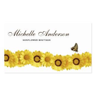 Sonnenblumen u. visitenkarten