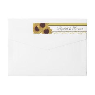 Sonnenblumen und Vintage Spitze-Hochzeit