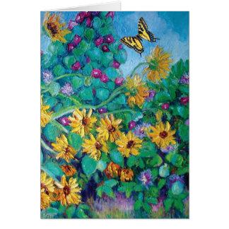 Sonnenblumen und Winden Karte