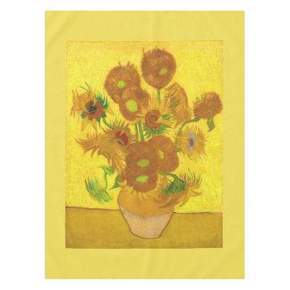 Sonnenblumen Van Gogh fünfzehn in einer Tischdecke