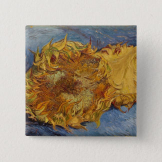 Sonnenblumen Vincent van Goghs |, 1887 Quadratischer Button 5,1 Cm