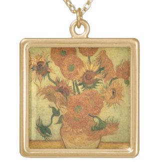 Sonnenblumen Vincent van Goghs |, 1889 Vergoldete Kette