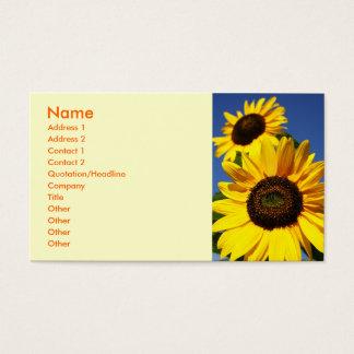 Sonnenblumen Visitenkarten