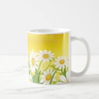 Sonnenblumen, weiße Blumen, Sun, Kaffee Haferl