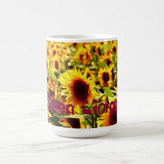 Sonnenblumenfeld Kaffeetasse