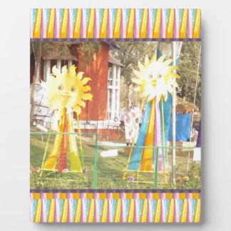 Sonnenblumesonnenscheindekorations-Festivals Fotoplatte