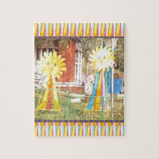 Sonnenblumesonnenscheindekorations-Festivals Puzzle