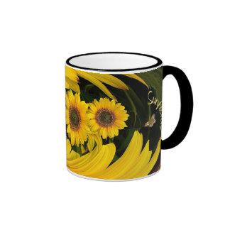 Sonnenblumestrudel ~ Wecker-Kaffee-Tasse Ringer Tasse