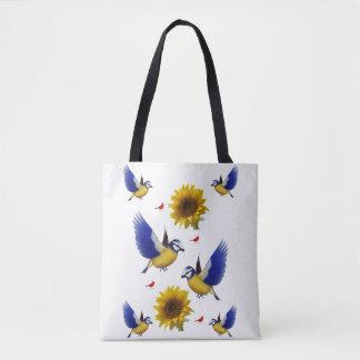 Sonnenblumevogel-Taschentasche Tasche