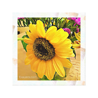 Sonnenblumewandkunst, Leinwanddruck, Gelb, heißes Leinwanddruck