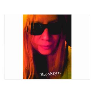 Sonnenbrille-Brooklyn-Produkte Postkarte