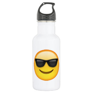 Sonnenbrille - Emoji Trinkflasche