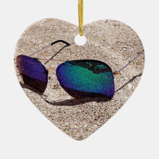 Sonnenbrille Keramik Herz-Ornament