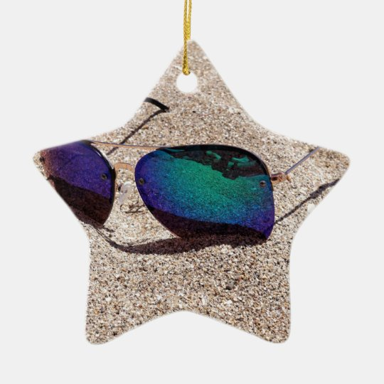 Sonnenbrille Keramik Stern-Ornament