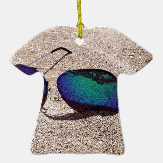 Sonnenbrille Keramik T-Shirt-Ornament