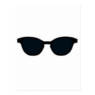 Sonnenbrille-schwarze Kante-Schwarz-Linse das Postkarte