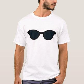 Sonnenbrille-schwarze Kante-Schwarz-Linse das T-Shirt