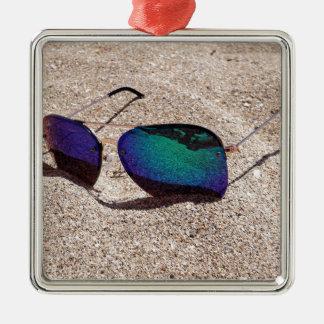 Sonnenbrille Silbernes Ornament