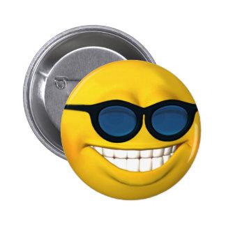 Sonnenbrille-Smileyknopf Anstecknadel