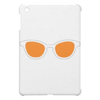 Sonnenbrille-weiße Kante-orange Linse das MUSEUM Hülle Für iPad Mini