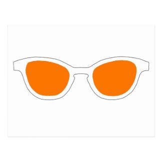 Sonnenbrille-weiße Kante-orange Linse das MUSEUM Postkarte
