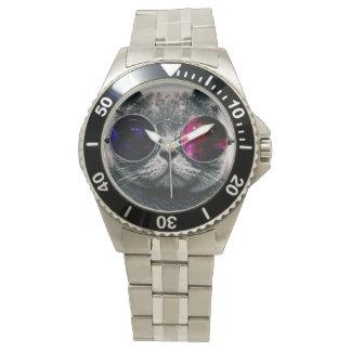 Sonnenbrillekatze Armbanduhr