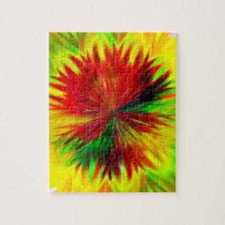 Sonnendurchbruch-Dahlie Puzzle