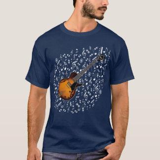 Sonnendurchbruch-elektrische Gitarren-Shirt T-Shirt