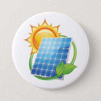 Sonnenenergie-Knopf Runder Button 7,6 Cm