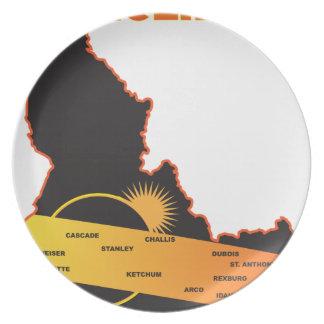 Sonnenfinsternis 2017 über Idaho-Stadt-Karte Teller