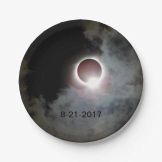 Sonnenfinsternis am 21. August 2017 Pappteller