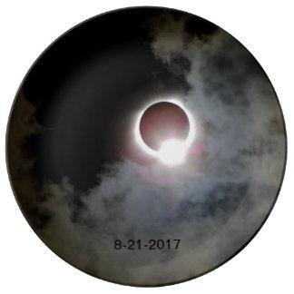 Sonnenfinsternis am 21. August 2017 Porzellanteller