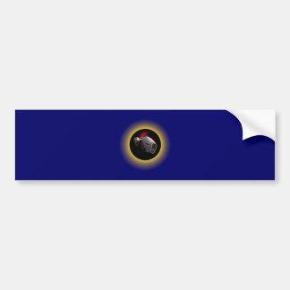 Sonnenfinsternis Eclipse Raumschiff space ship Autoaufkleber