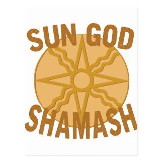 Sonnengott Shamash Postkarte