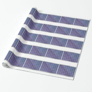 Sonnenkollektor auf Weiß Geschenkpapier