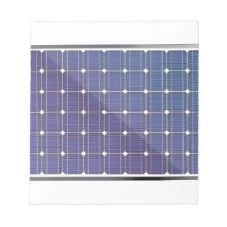 Sonnenkollektor auf Weiß Notizblock