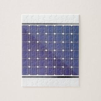 Sonnenkollektor auf Weiß Puzzle