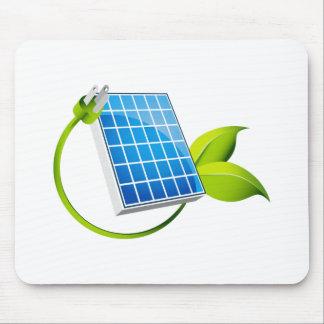 Sonnenkollektor-Blatt-Stecker Mousepad