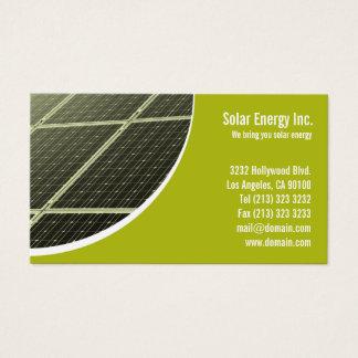 Sonnenkollektor-grüne Energie Visitenkarte