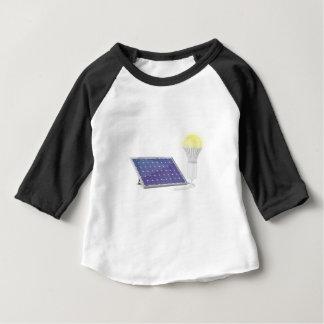 Sonnenkollektor und Glühlampe Baby T-shirt