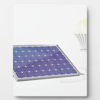 Sonnenkollektor und Glühlampe Fotoplatte