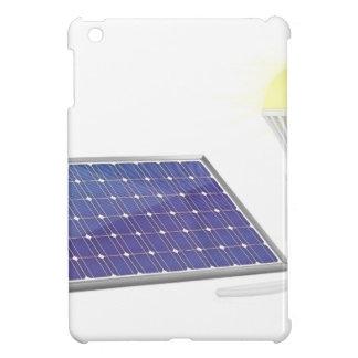 Sonnenkollektor und Glühlampe iPad Mini Hülle