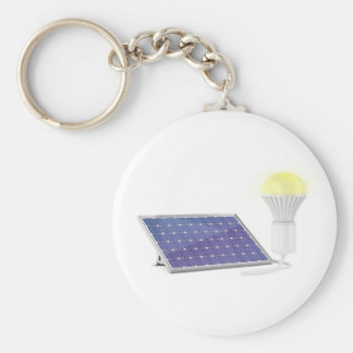 Sonnenkollektor und Glühlampe Schlüsselanhänger