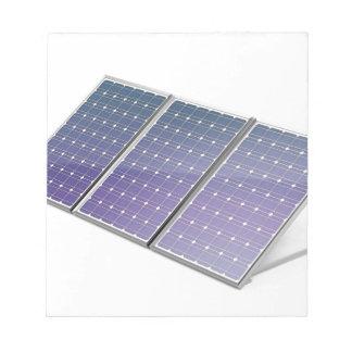 Sonnenkollektoren Notizblock